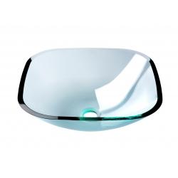 Vasque à poser en verre carrée
