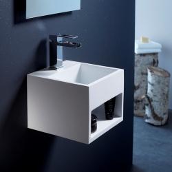 Lave-mains en solid surface Kyoto 32.5x32.5 cm