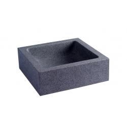 Vasque à poser en granit gris ardoisé