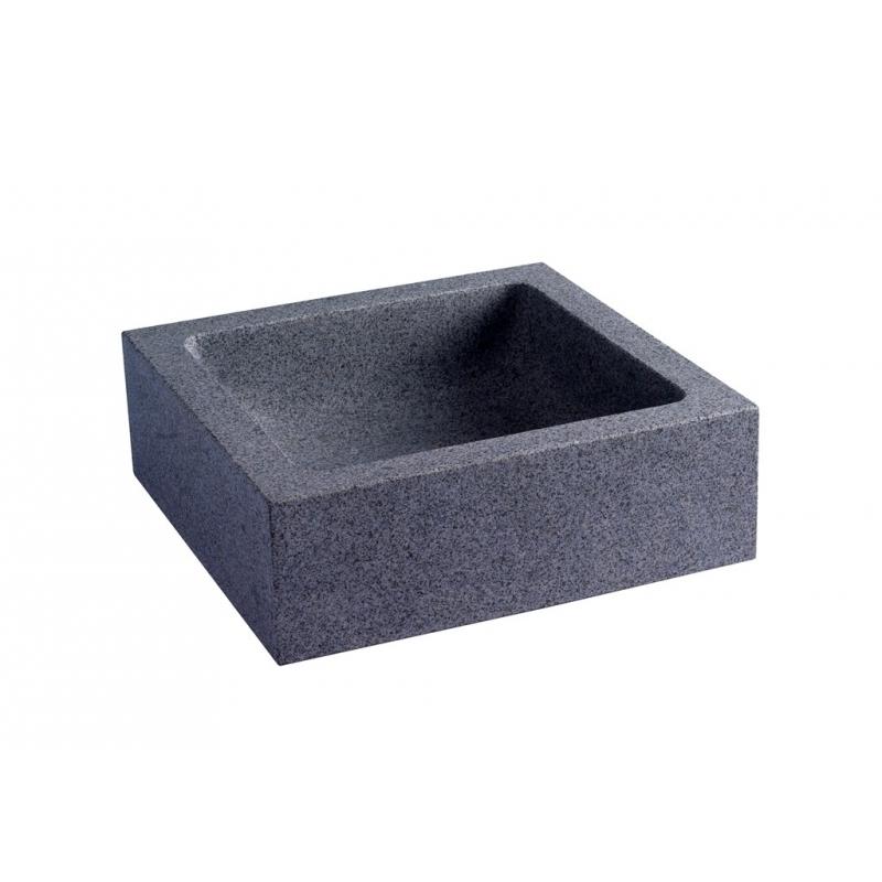 vasque a poser en granit gris ardoise planetebain. Black Bedroom Furniture Sets. Home Design Ideas
