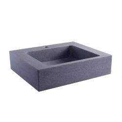 Vasque à poser rectangulaire gris ardoisé