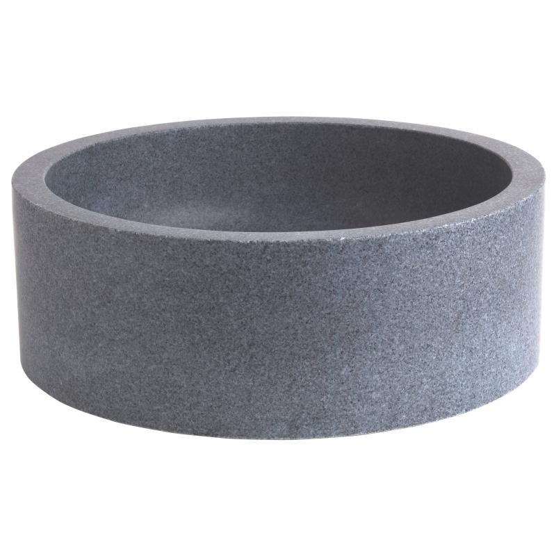 vasque en pierre naturelle grise vasques forme cylindrique. Black Bedroom Furniture Sets. Home Design Ideas