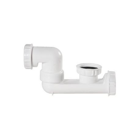 Siphon baignoire blanc H124 - bouchon de dégorgement