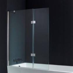 Pare-baignoire 2 volets 120*140 cm verre 10 mm