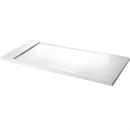 Receveur blanc extra-plat solid surface 80x160