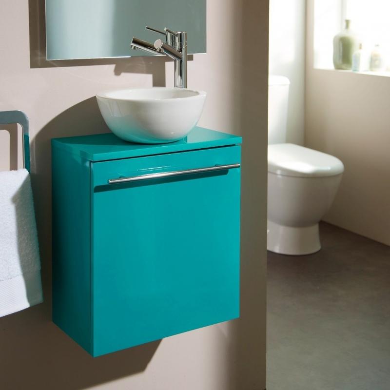 Meuble lave main mural vert pas cher avec bol c ramique for Meuble mural vert