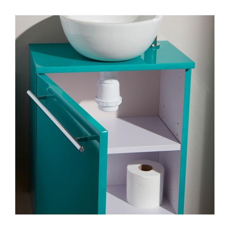 Meuble lave main mural vert pas cher avec bol c ramique for Meuble lave mains pas cher