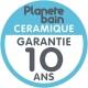 Vasque blanche Mailla + Plan stratifié 90 cm Laméllé gris