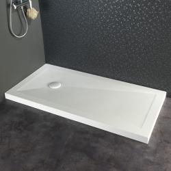 Receveur 80x160 blanc en solid surface