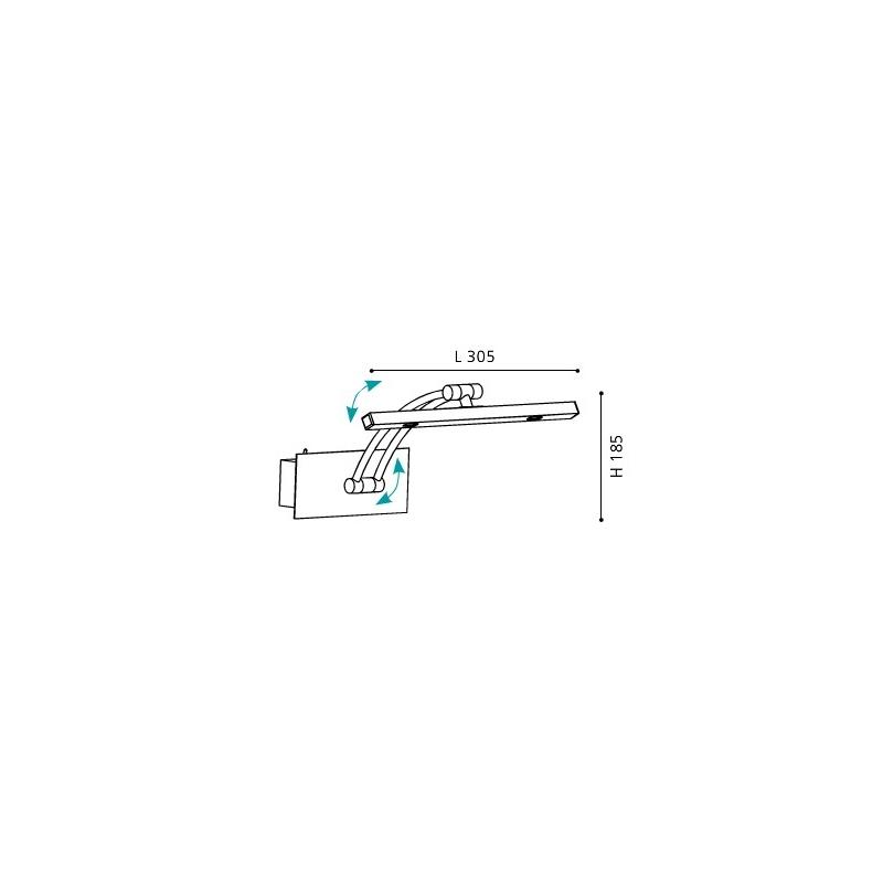 Achat d 39 applique design de salle de bain en nickel mat eglo for Applique salle de bain eglo