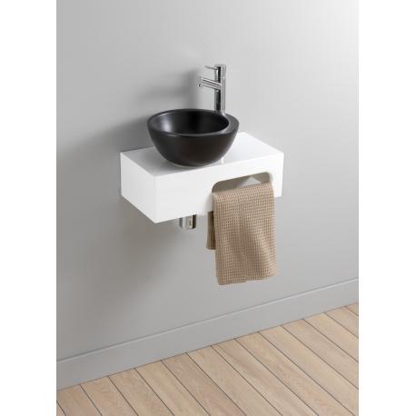 Lave Main Complet Moderne Avec Vasque Bol Noir - PlaneteBain