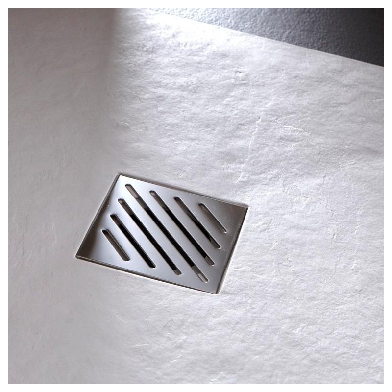 receveur extra plat poser design reflet ardois 90x90 blanc 523032. Black Bedroom Furniture Sets. Home Design Ideas
