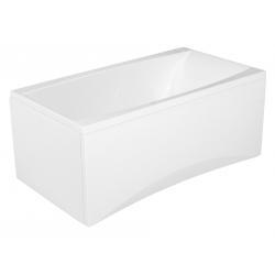 Baignoire rectangulaire 140x75 encastrable en acrylique + tablier central