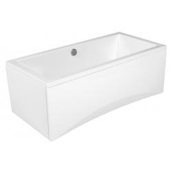 Baignoire rectangulaire INTRO 160x75 à encastrer en acrylique + tablier central