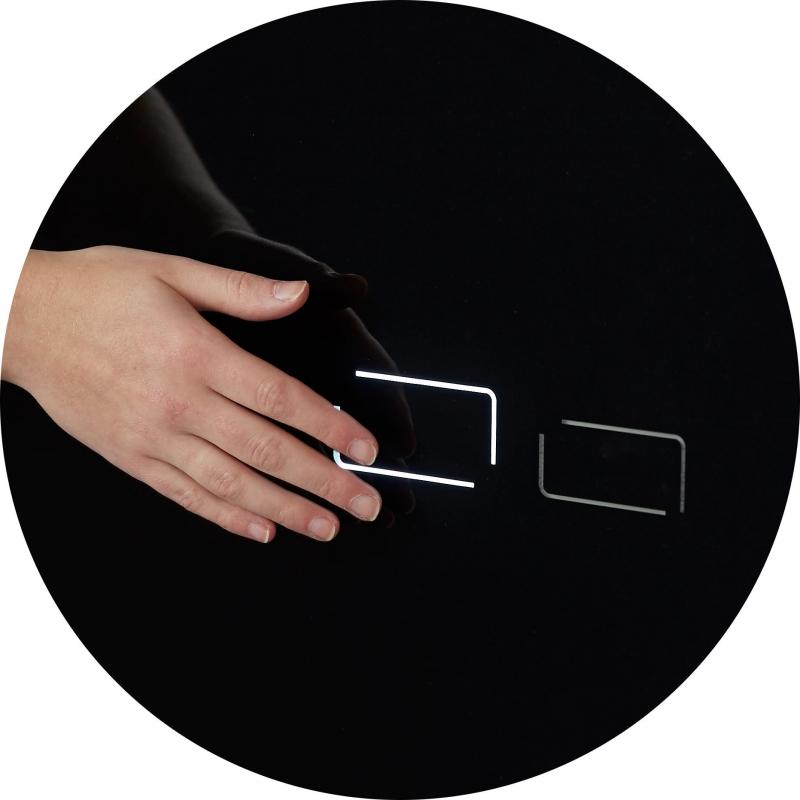vente b ti support wc en verre noir plaque de d clenchement sensitive. Black Bedroom Furniture Sets. Home Design Ideas