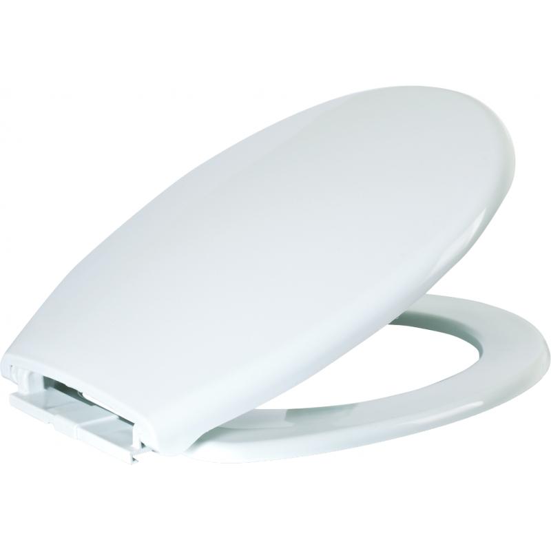PLANETE BAIN OFFICIEL Abattant WC blanc NF, Blanc SPECIAL...