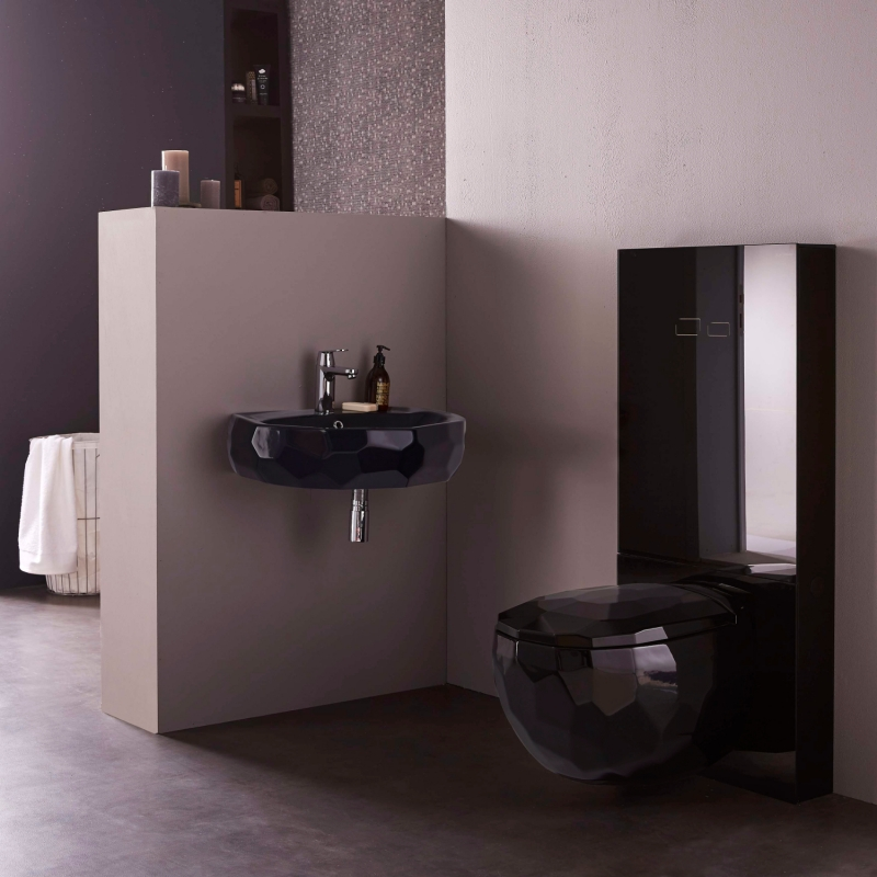 vente de vasques a poser design en c ramique noire. Black Bedroom Furniture Sets. Home Design Ideas