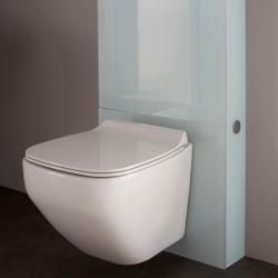 Cuvette suspendue en céramique pour WC design