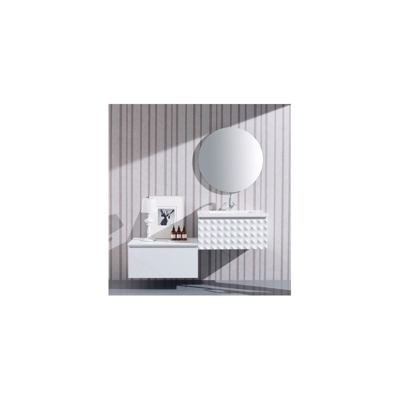 vente meuble de salle de bain sous vasque moderne design blanc laqu. Black Bedroom Furniture Sets. Home Design Ideas