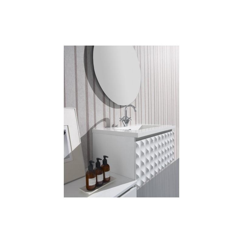 Vente meuble de salle de bain sous vasque moderne design Meuble salle de bain blanc laque