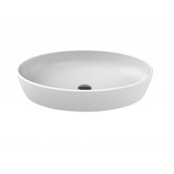 Vasque blanche ovale à poser en céramique