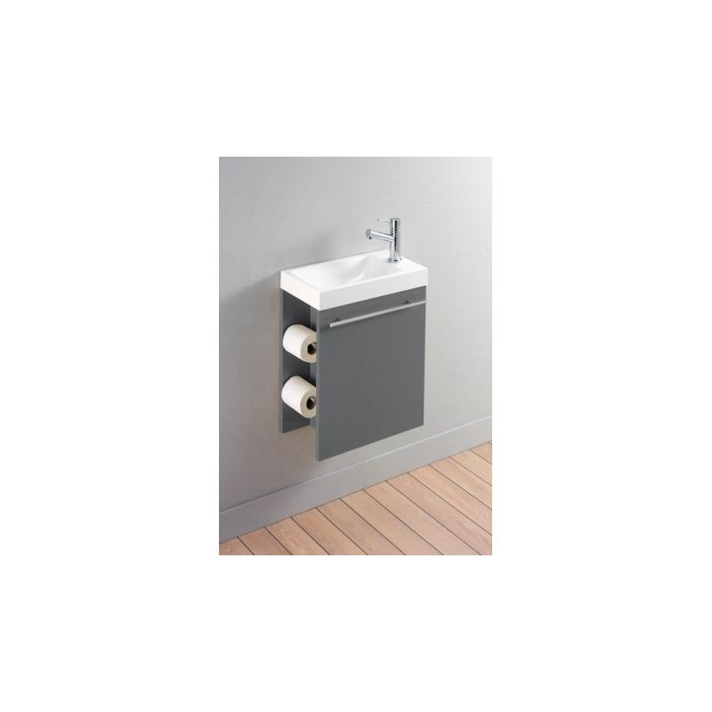 vente de meuble lave mains gris avec distributeur de papier et mitigeur. Black Bedroom Furniture Sets. Home Design Ideas
