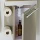 Meuble lave-mains complet avec distributeur de papier couleur daim + mitigeur eau chaude/eau froide