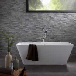 baignoire ilot rectangulaire sur pied sabot pas cher planetebain. Black Bedroom Furniture Sets. Home Design Ideas