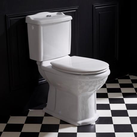 Pack wc rétro à poser en porcelaine blanc