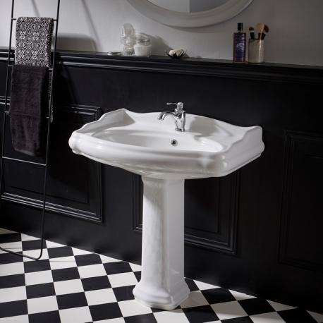 vente lavabo colonne design pour salle de bain rétro - planetebain.com - Lavabo Retro Salle De Bain