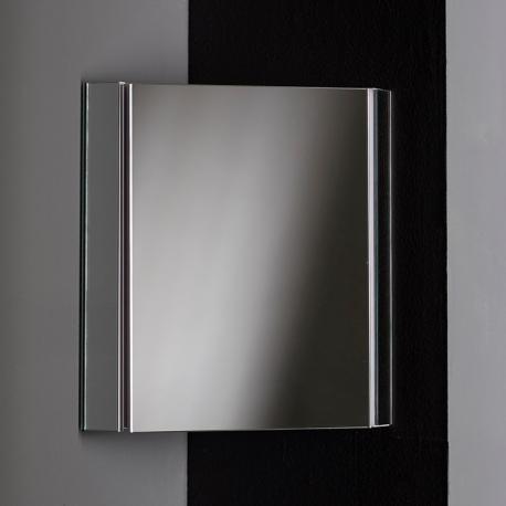 Lave main d 39 angle suspendu avec meuble blanc pas cher for Miroir pour armoire