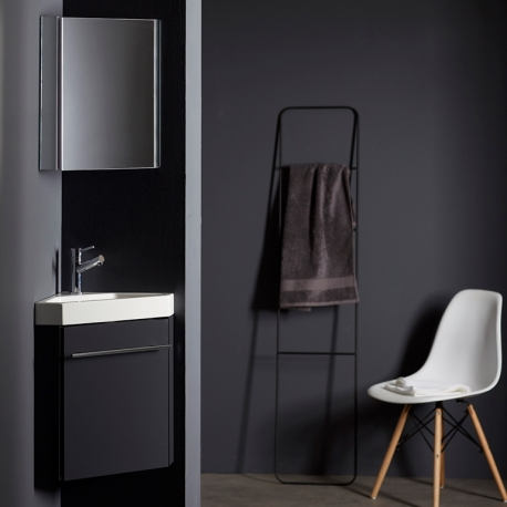 meuble lave main de coin gris pas cher planetebain. Black Bedroom Furniture Sets. Home Design Ideas