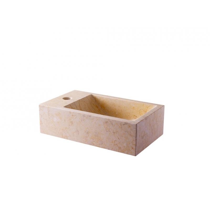 lave mains rectangle pas cher vente lavabos en pierre beige. Black Bedroom Furniture Sets. Home Design Ideas