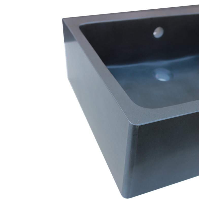 Evier double bac noir beautiful simple lavabo noir leroy for Meuble evier double bac
