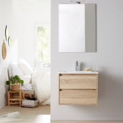 Meuble de salle de bain + miroir Siris 60 cambrian