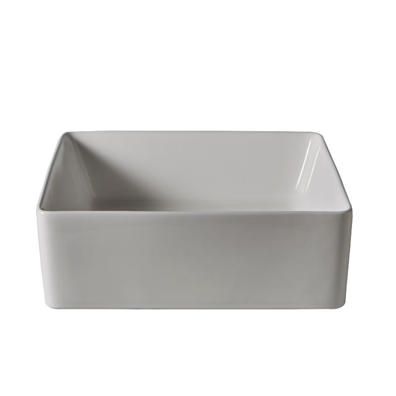 vente vasque en c ramique blanche poser sur un plan ou. Black Bedroom Furniture Sets. Home Design Ideas