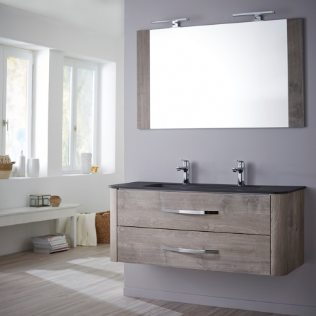 Meuble simple vasque bois meubles simples vasques salle - Hera ensemble salle de bain simple vasque 120 cm ...