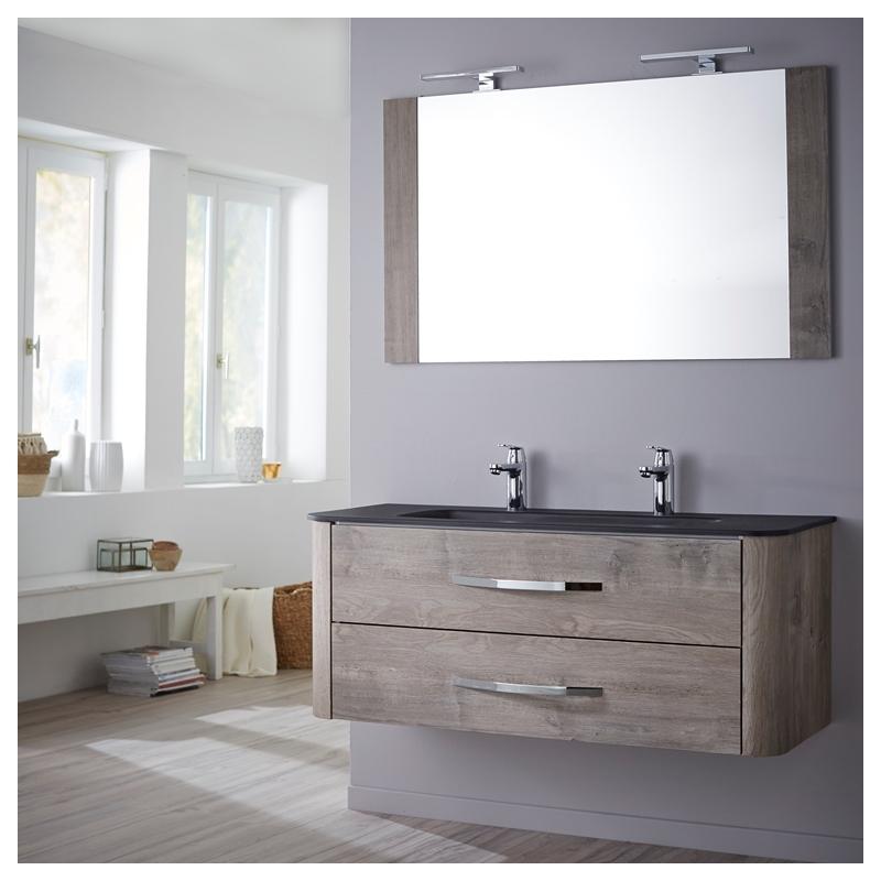 Achat meuble de salle de bain tout inclus en 120 cm curve - Ensemble robinetterie salle de bain ...