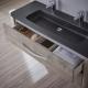 Ensemble meuble de salle de bain 120 cm Curve couleur chêne grisé