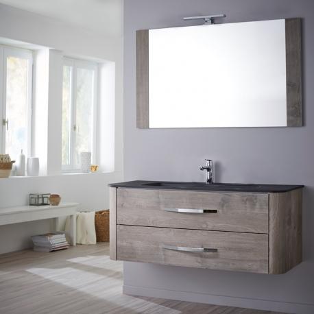 Vente meuble de salle de bain plan vasque miroir Meuble salle de bain 80 cm leroy merlin