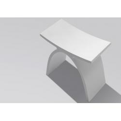 Tabouret Salle de Bain Design Blanc Pas Cher - Planetebain