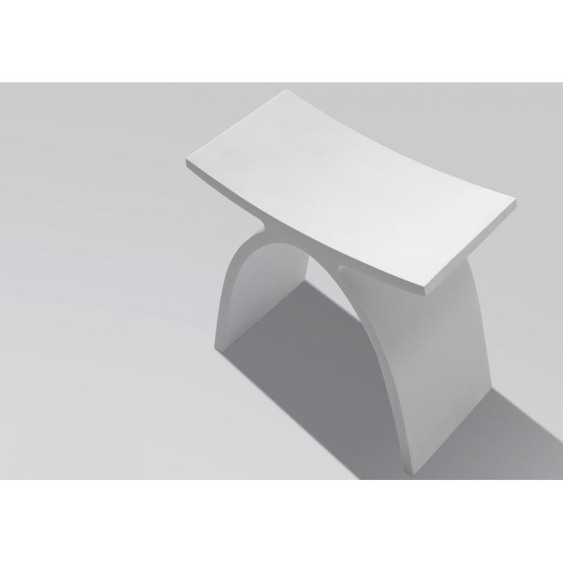 Tabouret de douche Cuneo en solide surface design