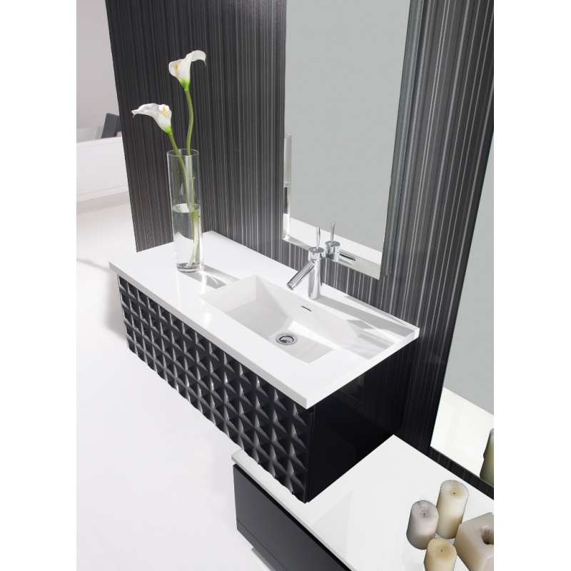 meuble salle de bain meubles salle de bain coloris noir brillant. Black Bedroom Furniture Sets. Home Design Ideas