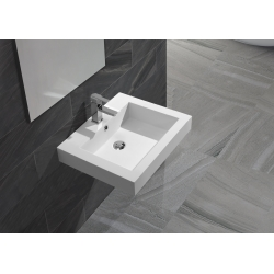 Vasque à poser carrée solid surface Empezo 46
