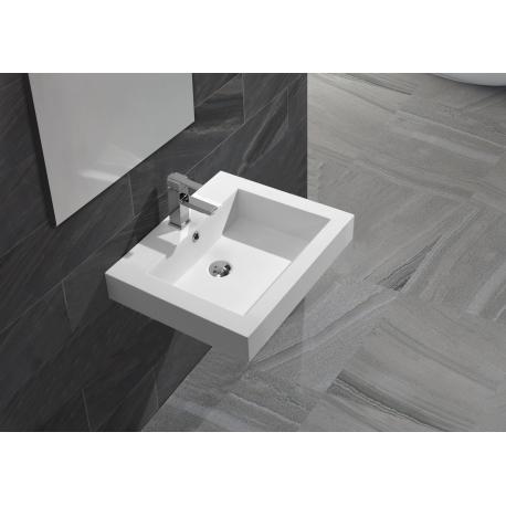 Vasque à poser carrée solid surface Empezo 46