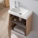 Lave-mains en céramique avec meuble complet couleur chêne Oak bordolino