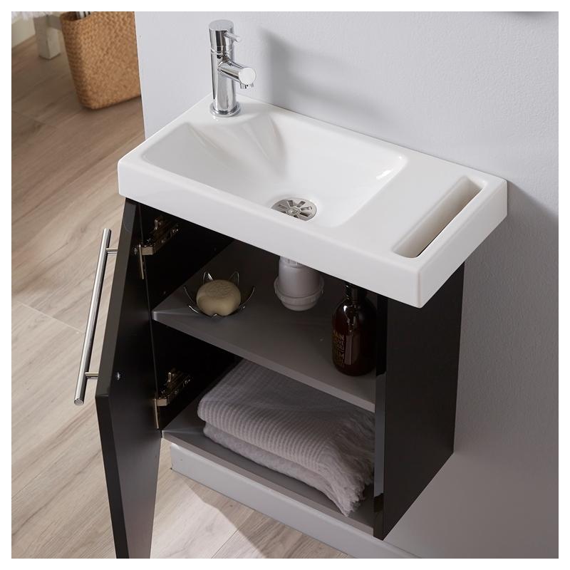 vente pack lave mains noiravec porte serviette int gr pas cher avec mitigeur eau chaude et eau. Black Bedroom Furniture Sets. Home Design Ideas