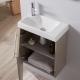 Meuble lave-mains complet couleur daim pour WC design