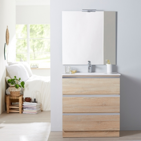 MEUBLE DYNAMIC 80 3 TIROIRS OAK BORDOLINO