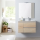 MEUBLE DYNAMIC 80 2 TIROIRS + 1 PORTE OAK BORDOLINO
